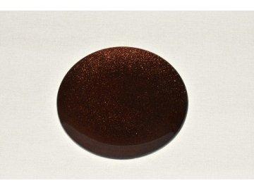 skleneny tac 20 cm hnedy s perleti