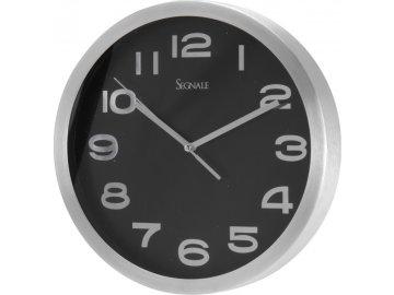 Hliníkové nástěnné hodiny SEGNALE černé