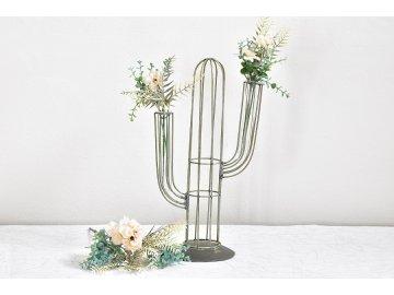 Kovová váza | kaktus