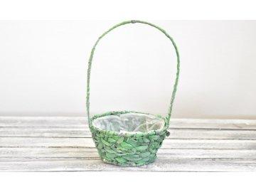 Košík přírodní | zelený