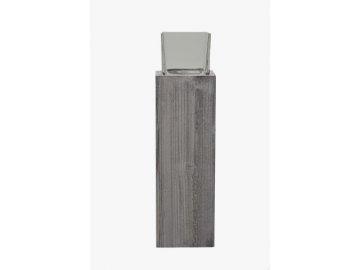 Svícen špalek se sklem 14x52x14cm