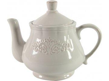 Konvice na čaj Charlene, bílá