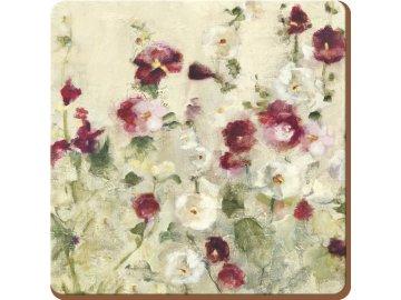 Podložky pod hrníčky| korkové | Wild Field Poppies | 6ks
