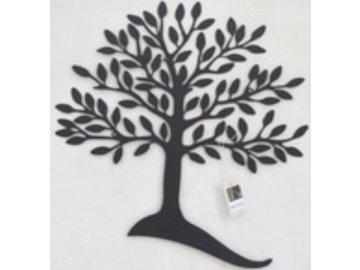 Nástěnná kovová dekorace | strom | barva černá matná | 52,5x59cm