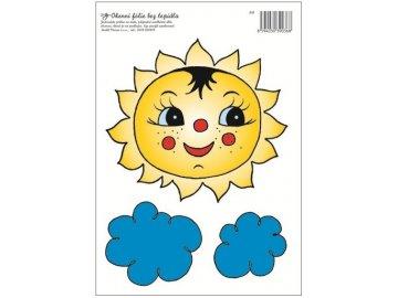 Okenní fólie sluníčko s mráčky 33x23cm