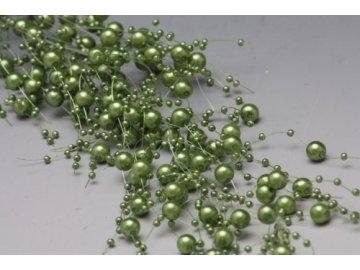 Girlanda | perličková | zelená