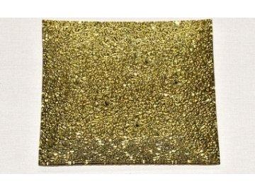 Skleněný tác | zlatý | 20x20 cm