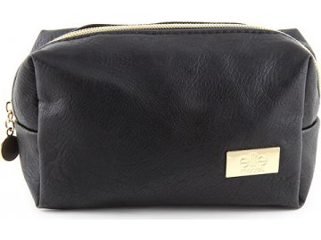 Kosmetická taška | Elite Models | Černá se zlatým zipem