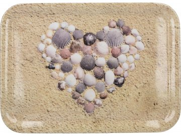 Melaminový tác Shell Heart