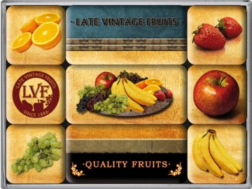 Magnetky na ledničku Quality Fruits