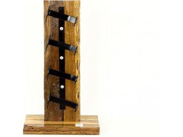 Stojan na víno | dřevo a kov