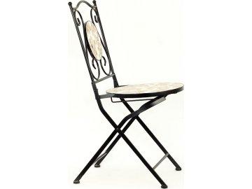 Kovová skládací židle | mozaika