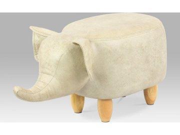 Taburet slon, látka, masiv
