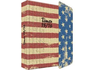 Školní diář   Edition A. Trötsch   vlajka USA   11x15cm