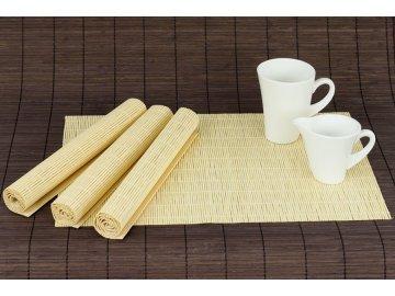 Prostírání bambusové, sada 4ks. Barva Přírodní.