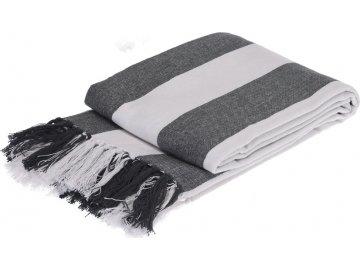 Bavlněný pléd šedý