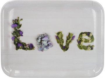 Melaminový tác Floral Love | 39x28 cm