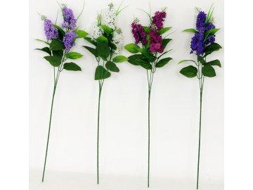 Umělé květiny - šeřík,3 hlavy, mix 4 barev (bývalé PUG815592)