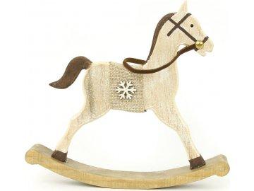 Koníček, dřevěná vánoční dekorace
