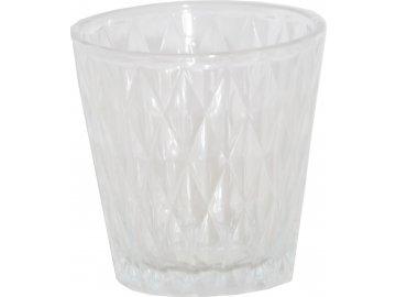 Skleněný svícen na dekorativní čajovou svíčku