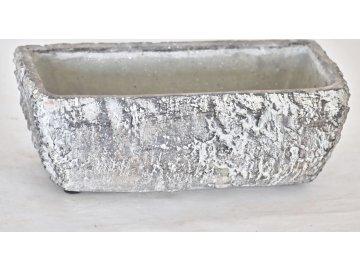 Cementový květináč Betula | 9x23x13 cm