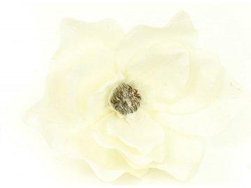Magnolie, umělá květina vazbová, bílá zasněžená