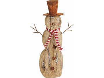 Dřevěný sněhulák | 31 cm