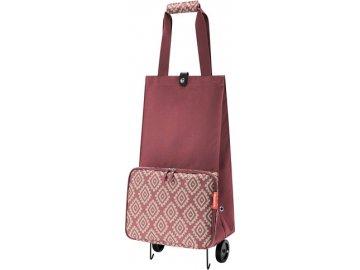 Nákupní taška Reisenthel Růžová s diamanty, skládací   foldabletrolley