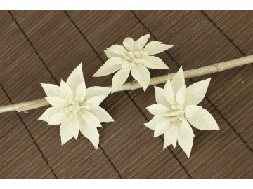169218 kvetina bila dekoracni cena za 3kusy 1 polybag