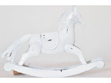 Houpací kůň | kov | bílý | 26,5cm