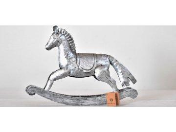 Houpací kůň   kov   stříbrný   20,5cm