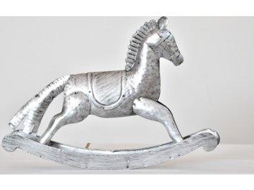 Houpací kůň | kov | stříbrný | 26,5cm