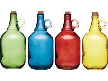 Skleněné demižony | barevné | SADA 4KS