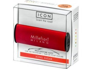 Millefiori Vůně do auta Icon, Classic/Moučkový cukr, červená