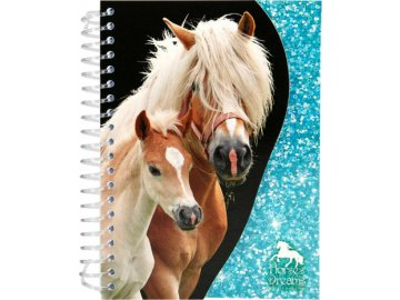 Zápisník Horses Dreams ASST Světle modrý, 70 stran