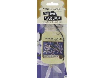 Osvěžovač vzduchu do auta | Půlnoční jasmín | Yankee Candle | papírová visačka | 18g
