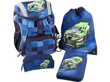 Školní set Monster Cars | modrý s Alexem | 4 díly