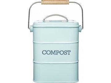 Plechový kompostér Living Nostalgia modrý