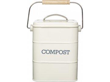 Plechový kompostér Living Nostalgia krémový