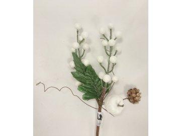 Dekorační větvička | z umělé hmoty | 25x6x6cm