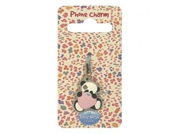 Přívěsek na mobil panda Binky | My blue nose friends | panda | 5x10x1cm
