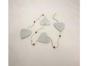 Girlanda srdce | dřevěné | 100x8cm