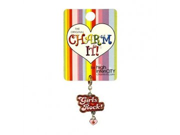 Přívěšek Charm it | Girls rock | 50x42x2mm