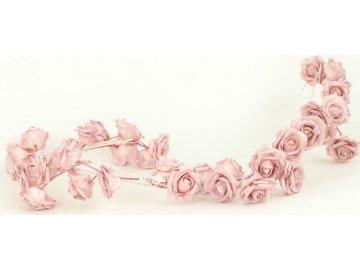 Girlanda z pěnových růžiček, barva lila , umělá dekorace