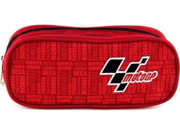Školní penál Moto GP elipsovitý, červený