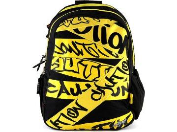 Sprayground Studentský batoh Spray Ground motiv grafity, černo-žlutý