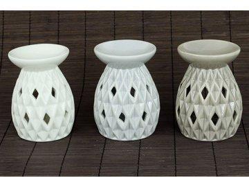 Aroma lampa, porcelánová, barva bílá,béžová nebo šedá