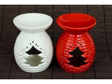 Aroma lampa, porcelánová, barva bílá nebo červená