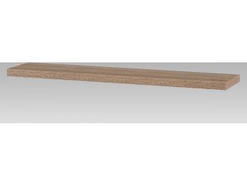 Nástěnná polička 120cm, barva sonoma dub. Baleno v kartonu 1ks/ktn.