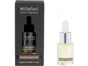 Aroma olej Millefiori Milano Natural, 15ml/Santalové dřevo a bergamot